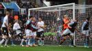Fabian Delph (right) watches on after heading the ball past his own goalkeeper to provide Fulham with an equaliser