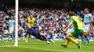 Grant Holt puts Norwich into the lead at Man City for a second time