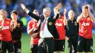Sir Alex Ferguson salutes the Man United fans after his management career officially came to an end at West Brom