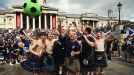 Scotland fans takeover Trafalgar Square ahead of their date with England at Wembley