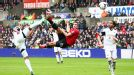 Robin van Persie acrobatically puts Manchester United in front at Swansea