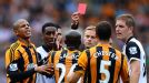 Yannick Sagbo red card Hull v Norwich