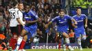 Chelsea celebrate after John Obi Mikel scored his first-ever Premier League goal.