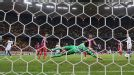 Ciprian Tatarusanu is powerless to keep out Frank Lampard's long-range effort which sealed Chelsea's 4-0 win at Steaua.