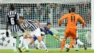 Gianluigi Buffon is powerless to stop Gareth Bale's shot finding the bottom corner.
