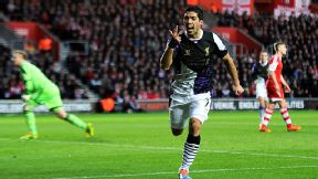 It's all a bit of a blur for Southampton's players after Luis Suarez gave Liverpool the lead.