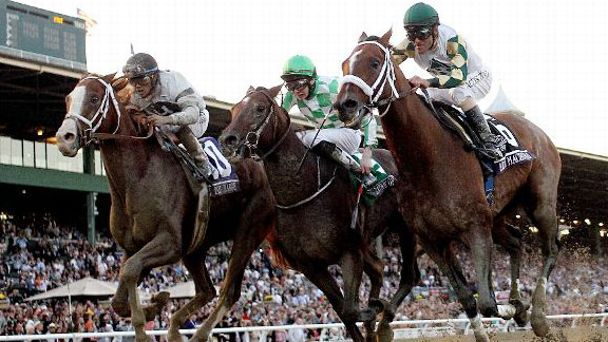 Gary Stevens and Mucho Macho Man win the 2013 Breeders' Cup Classic.