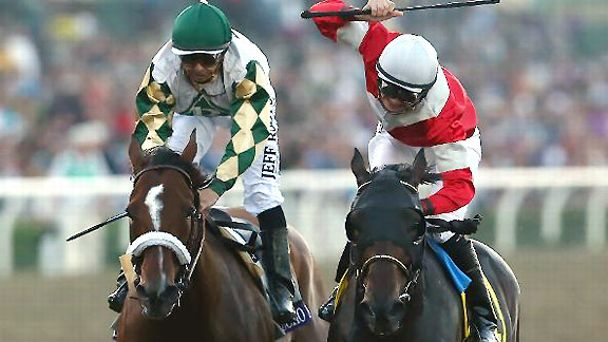 Fort Larned beats Mucho Macho Man to the wire to win the 2012 Breeders' Cup Classic.