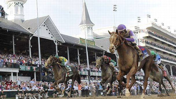 I'll Have Another wins the 2012 Kentucky Derby at Churchill Downs.