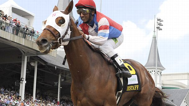 Groupie Doll wins at Churchill Downs in May of 2012.