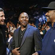 Actor Jake Gyllenhaal, director Antoine Fuqua and actor Denzel Washington