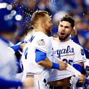 Alex Gordon and Eric Hosmer Celebrate