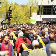 Fans flock in