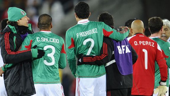 Mexico celebrate beating France