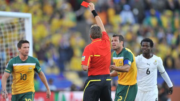 Harry Kewell red card vs Ghana