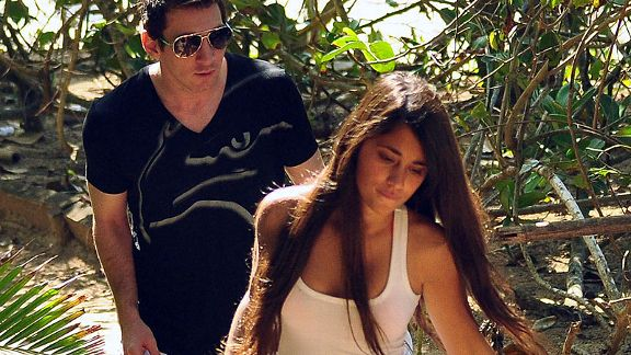 Antonella Roccuzzo and Lionel Messi enjoyed an early holiday after Argentina's exit