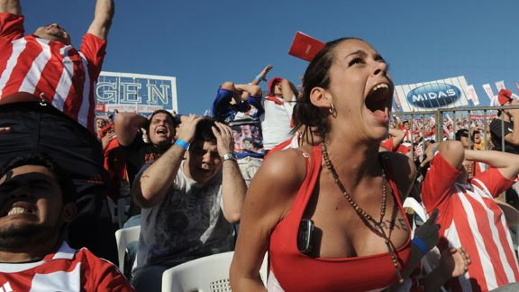 Paraguayan fan Larissa Riquelme attracted plenty of attention at the World Cup