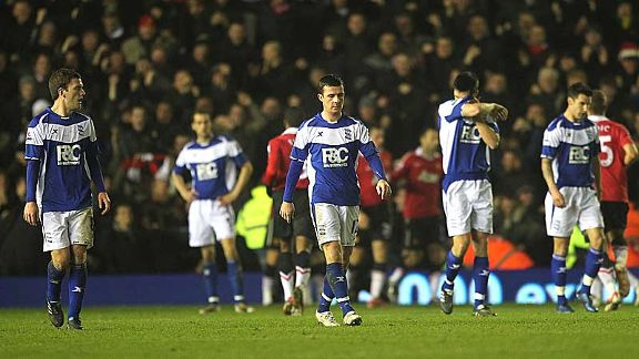 Birmingham players do not take Dimitar Berbatov's strike well