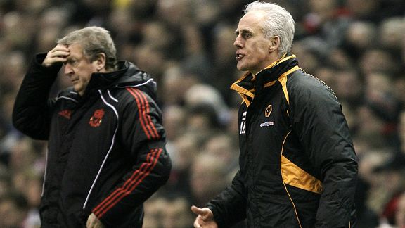 Liverpool manager Roy Hodgson (left) feels the pressure against Wolves