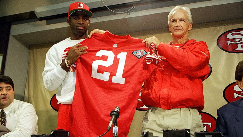 Deion Sanders, 49ers news conference