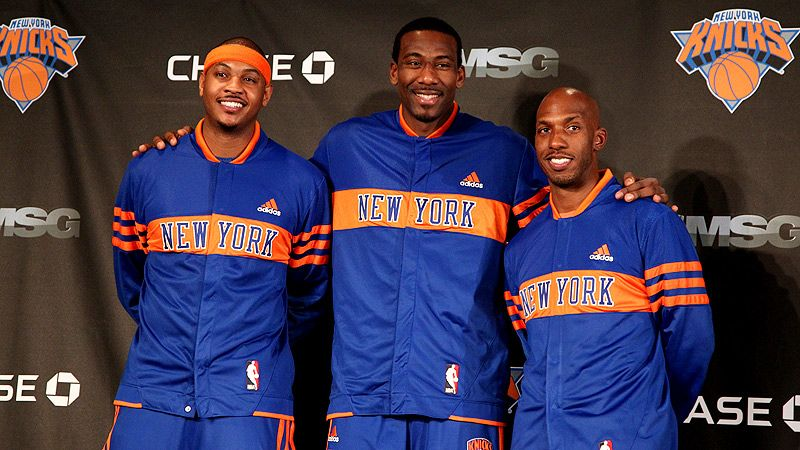 Carmelo Anthony, Amare Stoudemire and Chauncey Billups