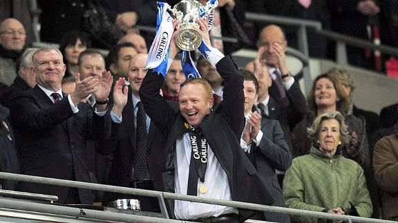 Alex McLeish revels in Carling Cup success