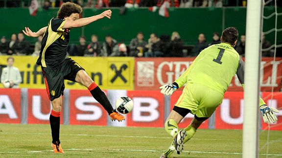 Alex Witsel smashes home his second to secure the points for Belgium in Austria.