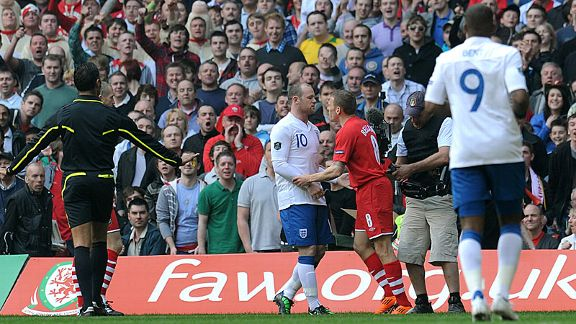 Wayne Rooney and Craig Bellamy