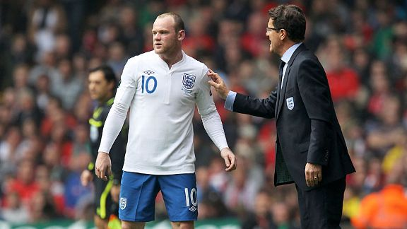 Wayne Rooney and Fabio Capello