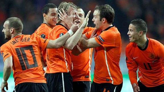 Dirk Kuyt is the toast of the Netherlands after his brace earned a 5-3 win over Hungary.