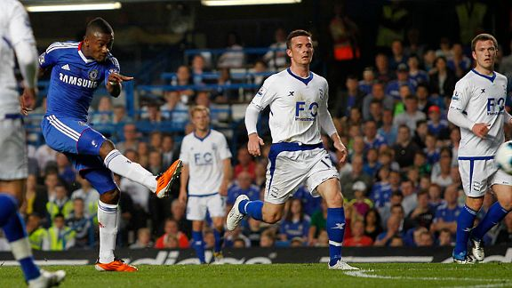 Ivorian forward Salomon Kalou doubled Chelsea's lead at Stamford Bridge.
