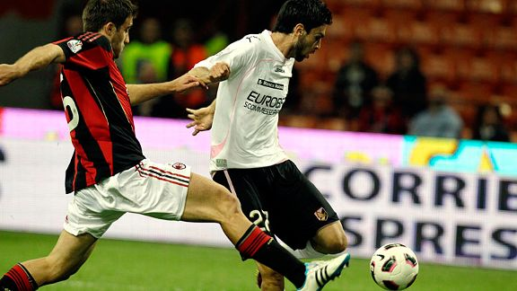 Argentinian playmaker Javier Pastore equalised for Palermo against Milan.