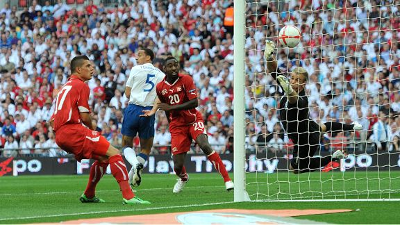 BArnetta first goal Switzerland v England