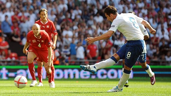 Frank Lampard pen England v Switzerland 20110604