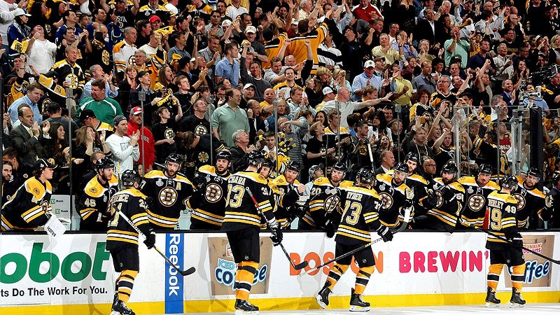 Boston Bruins celebrate