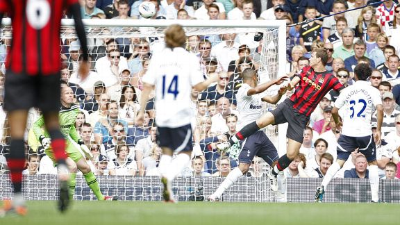 Edin Dzeko second goal Man City v Spurs