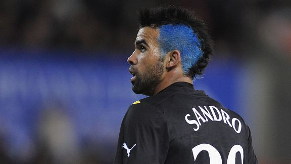 Sandro sported an interesting haircut for Tottenham's Carling Cup clash with Stoke