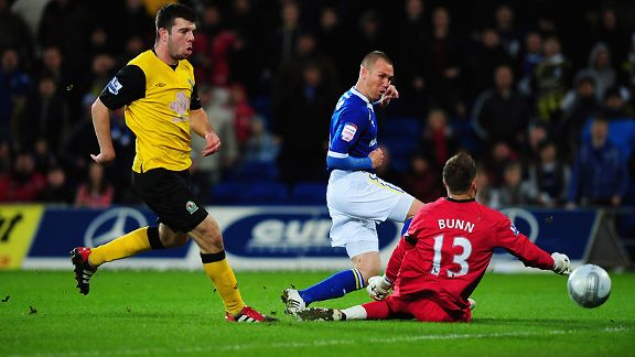 Kenny Miller scores for Cardiff against Blackburn
