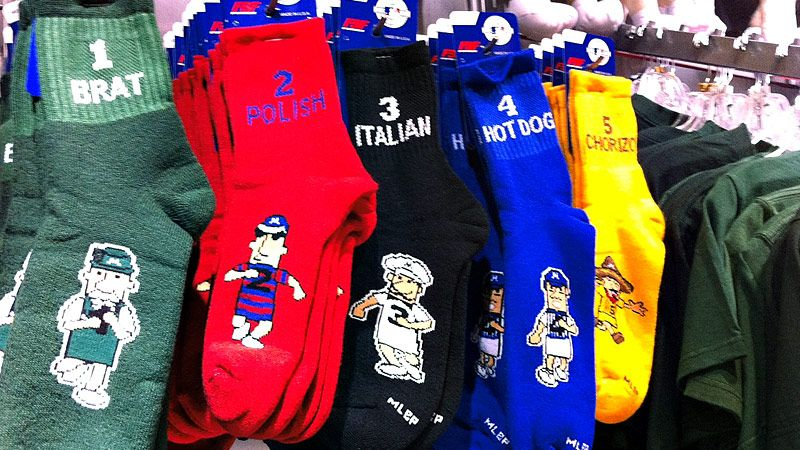 Brewers Sausage Race socks