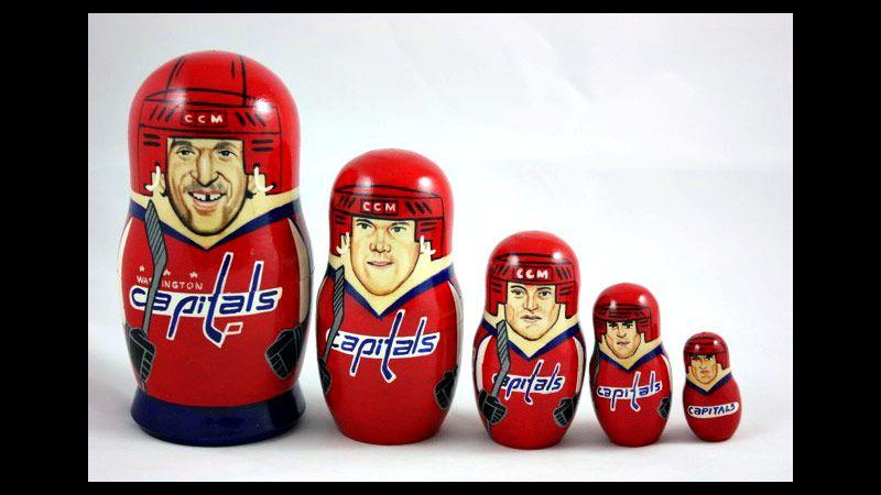 Washington Capitals Russian nesting dolls