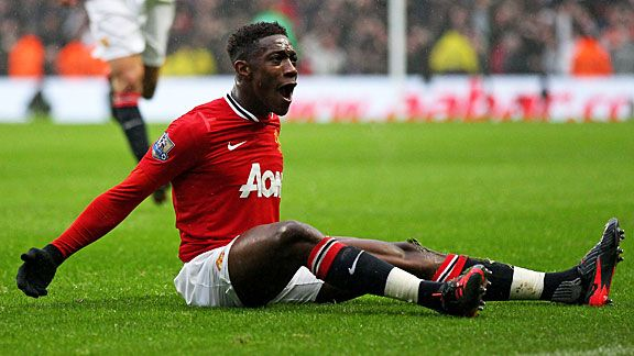 Danny Welbeck celebrates after doubling Man United's advantage