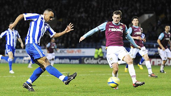 Chris O'Grady fires Sheffield Wednesday into the Fouth Round with a late goal against West Ham United.