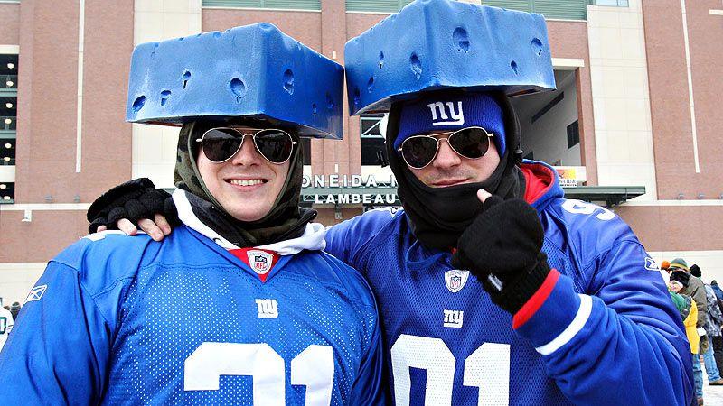 Giants fans at Lambeau Field