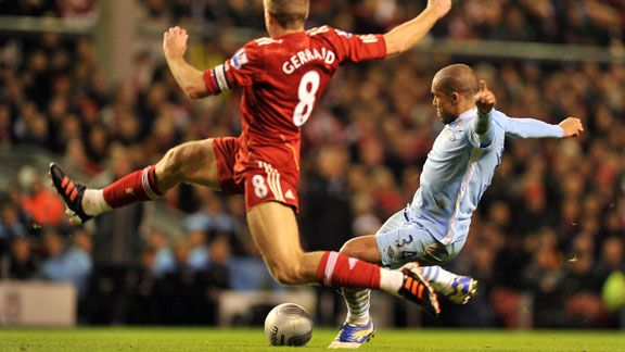 Nigel De Jong goal Man City v Liverpool