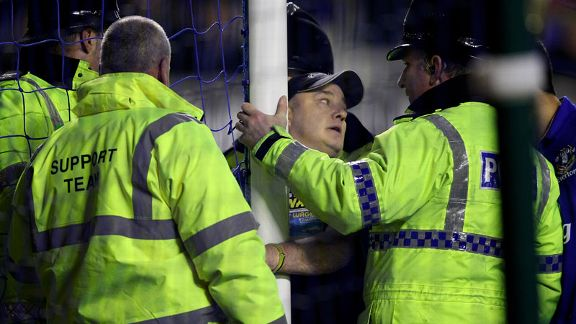 Everton handcuff man
