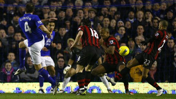 Darron Gibson Everton goal v Man City