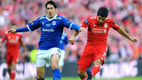 Peter Whittingham Luis Suarez battle