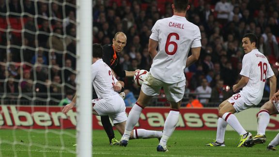 Arjen Robben third goal Netherlands v England 