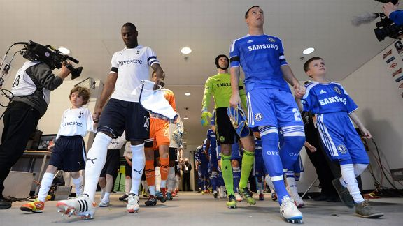 Ledley King and John Terry lead their teams out of the tunnel at Wembley