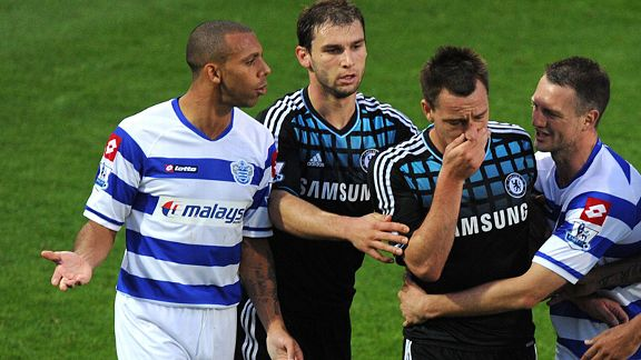 Chelsea's John Terry was accused of abusing Queens Park Rangers's Anton Ferdinand